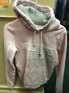Women's Abercrombie And Fitch Pink Pull Over Hoodie. Size Small