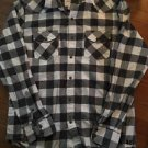 Men's American Eagle Xl Grey White Button Down Shirt Vintage Fit