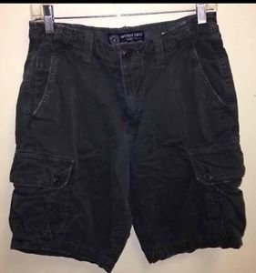 Men's Size 30 Dark Grey Vintage American Eagle Cargo Shorts