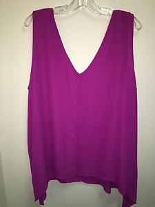 Women's New York And Company Pink XL Tank Top Blouse NWT $40
