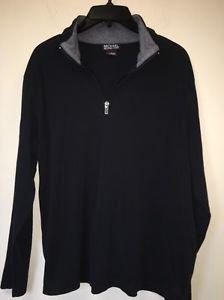 Men's Large Black Michael Kors Pullover Half Zip Long Sleeve Shirt