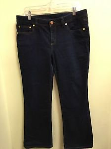Womens Size 32 Dark Wash Boot Cut Tory Burch Jeans