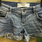 Women's/jrs Abercrombie & Fitch New York  size 2 W26 Med/light Wash Jean Shorts