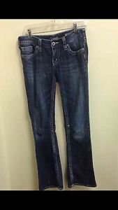 Women's Size 28 Silver Jeans Aiko Boot Dark Wash