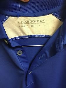 Men's Large Blue Nike Golf Dri Fit Short Sleeve Polo Shirt