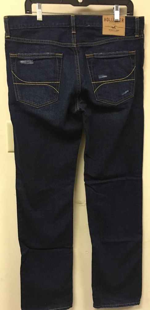 Nwot Men's 32/32 Hollister Jeans Classic Straight Dark Wash