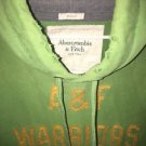 Men's XL Muscle Green Abercrombie And Fitch Warriors Hoodie Sweatshirt