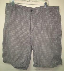 Men's Size 36 Tan Plaid Express Casual Shorts