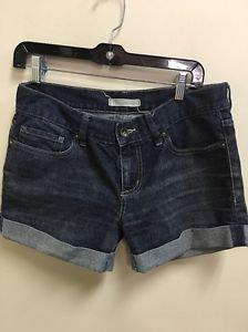 Ladies Size 5 Dark Wash Bullhead Jean Shorts