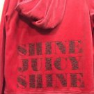 Juicy Couture Red Velour Outfit Large Bling