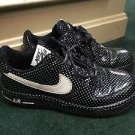 Nike Air Force 1 black and white polka dots size 6.5 sneakers.
