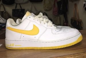 Nike Air Force 1 07 Low White Varsity Maize one yellow 315122-172 RARE AF1 Sz12