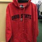Men's Large Red Ohio State Buckeyes Football Pullover Hoodie Sweatshirt