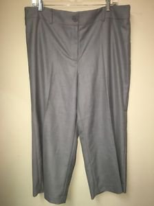 Women's Bogari Regular Rise Dress Capris Gray Size 16.