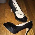 Women's Size 5.5 Black Smoke Michael Kors Platform Heels Pumps