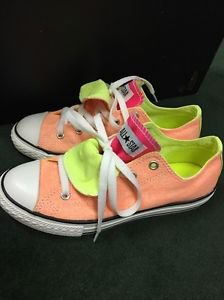 Converse Double Tongue Neon Orange Yellow and Pink 637348F Sz 4 (fits Womens 6)