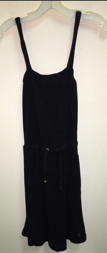 Petite Black Juicy Couture Terry Dress/ Swim Suit Cover Up