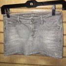 Abercrombie And Fitch Kids Size 10 Stretch Gray Denim Jean Skirt