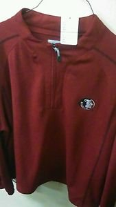 Mens Maroon Florida State Crew Neck Long Sleeve Half Zip Sweatshirt Large