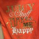 Women's Juniors XL Juicy Couture Zip Up Hoodie Bling Juicy Makes Me Happy