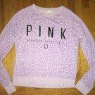 Small Victoria's Secret Pink Light Purple Animal Print Sweatshirt
