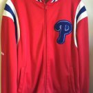 MeStitches Phillies Red White And Blue Long Sleeve Zip Up Sweatshirt. Size Large