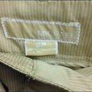 Michael Kors Size 8p Tan White Pinstripe Dressy Capri Pants