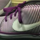 Nike Women's Tiki canvas bold Berry Purple Stripes Casual Sneakers Size 7.