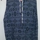 Women's Hollister gray Aztec print hooded sweater size m/l