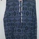 Women's Hollister gray Aztec print hooded sweater size m/l