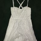 ABERCROMBIE & FITCH  Blue/Green/White Plaid Dress Criss Cross Back Sz MEDIUM NWT