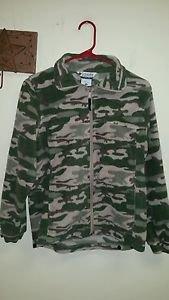 Youth Columbia camo zip up sweatshirt size 14/16