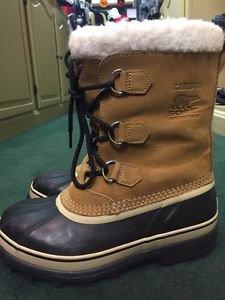 Sorel Caribou Women 9 Mens 6 NM1000-281 Buff Brown Waterproof Snow Boots