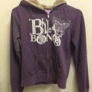 Ladies M Purple Plum Billabong Zip Up Fur Hood Jacket Sweatshirt