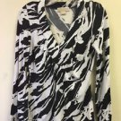 michael kors womans zebra print pullover long sleeve size xs