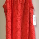 Laundry by design Orange  lace dress Small NWT $105 sleeveless