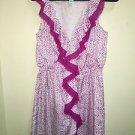 Ann Taylor Loft Petite Small Purple White Dress