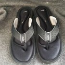 Women Nike Comfort Cushion Black Flop-Flop Sandal Shoes Size 7