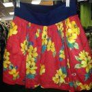 Women's Hollister Skirt, XS, Red Flowered