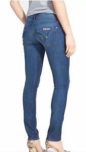 HUDSON Jeans Women's Size 25 COLLIN FLAP SKINNY Jeans Dark Wash NW422ZNA