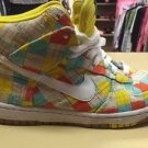 354910-800 Nike Dunk High Skinny Supreme Patchwork   2009 Size 7 Women's