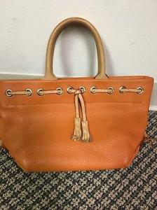 Dooney And Bourke Orange Leather Handbag