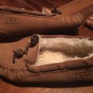 Mint** UGG AUSTRALIA Girls Dakota Chestnut Brown 5296 Moccasins Slippers Size 3