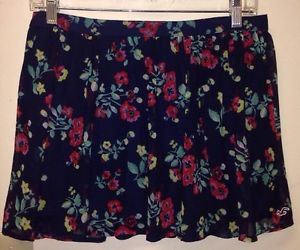 Women's Hollister Skirt, Medium, Navy Blue Flowered