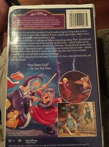 The Sword in the Stone Masterpiece Collection VHS