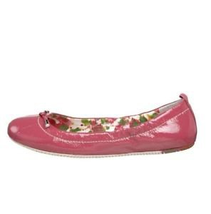 Sperry Top-Sider Marion Raspberry Pink Crinkle Patent Ballet Flats Women's 6.5