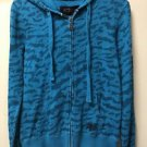 Fox Racing Women's Small Blue Zip Up Hoodie Jacket