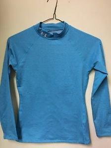 Youth Large Coldgear Under Armour Blue Long Sleeve Mock Shirt Turtleneck