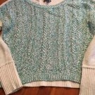 Women's Extra Large American Eagle Mint Green Crop Crew Neck Sweater