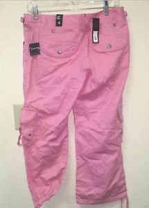 $54 NWT Sz 4 THE LIMITED TIERNEY FIT PINK CAPRIS CROPPED CARGO'S Low Rise